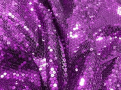 Purple Stretch Mesh W/purple Sequins Fabric 130cm Wide By the Yard