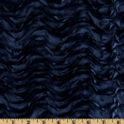 Mackenzie Satin Ribbon Scallop Navy Home Decor Fabric