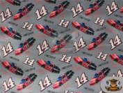 100% Cotton Quilt Prints Fabric - NASCAR 14 TONY STEWART SG-112 / 110cm Wide / Sold by the yard