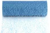 Kel-Toy Sparkle Mesh Craft Fabric, 15cm by 10-Yard, Blue