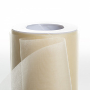 Koyal Wholesale 25-Yard Sheer Organza Fabric Roll, 15cm , Ivory