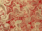 Red/gold Paisley Metallic Brocade 110cm By the Yard