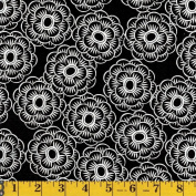 Wilmington Prints Black Floral All Over, 110cm Wide, From the Bliss Collection, By the Yard