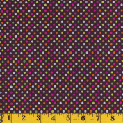 Camelot Fabrics Brown Multi Dots, From the Hand Picked Collection, 110cm Wide, By the Yard
