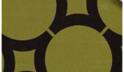 Element Circle Chocolate/kiwi Sold By Yard. Reversible 2 Tones.