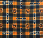 Chicago Bears NFL Licenced Plaid Fleece Fabric 150cm Inches Wide-by the Yard