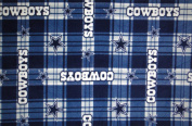 Dallas Cowboys NFL Licenced Plaid Fleece Fabric 150cm Inches Wide-by the Yard