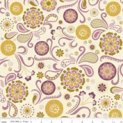 Riley Blake Designs Sophie Floral Circle Design on Cream Cotton Fabric Print by the yard