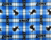 Detroit Lions NFL Licenced Plaid Fleece Fabric 150cm Inches Wide-By The Yard