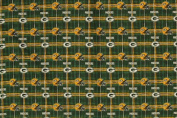 NFL Green Bay Packers Green/ Yellow 150cm Plaid Flannel Fabric - Sold By the Yard