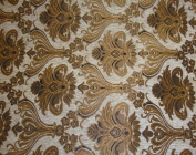 Rosarita Ivory Damask Chenille 100% Polyester 140cm Wide Per Yard