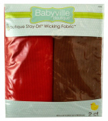 Babyville Boutique 2 Count Wicking Fabric, Red and Brown