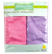 Babyville Boutique 2 Count Wicking Fabric, Pink and Lavender