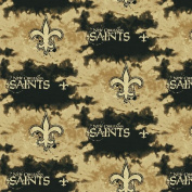 NFL New Orleans Saints Football Liquid Blue Sports Fleece Fabric Print