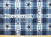 NFL Dallas Cowboys Plaid Professional Football Fleece Fabric Print by the Yard