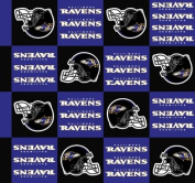 NFL Baltimore Ravens Boxes Football Print Fleece Fabric