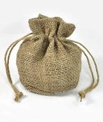 19cm x 15cm x 10cm Natural Jute Round Bottom Bags - 10 Pack