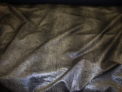Black and Grey Colour Embossed Crocodile Upholstery Leather Vinyl Fabric