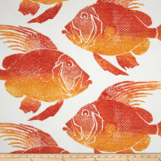 P Kaufmann Indoor/Outdoor Fish Orange Fabric