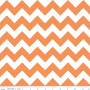 Chevron Stripe Orange Flannel Fabric SKU F320-60