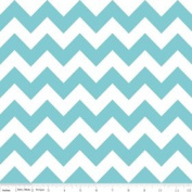 Chevron Stripe Aqua Flannel Fabric SKU F320-20