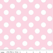 Riley Blake Basics Polka Dot Baby Pink White Flannel Fabric SKU F360-72