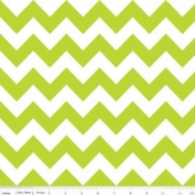 Chevron Stripe Lime Green Flannel Fabric SKU F320-32
