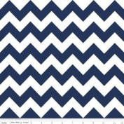 Chevron Stripe Navy Blue Flannel Fabric SKU F320-21