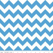 Chevron Stripe Medium Blue Flannel Fabric SKU F320-22