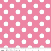 Riley Blake Basics Polka Dot Pink White Flannel Fabric SKU F360-70