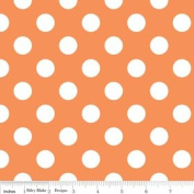 Riley Blake Basics Polka Dot Orange White Flannel Fabric SKU F360-60