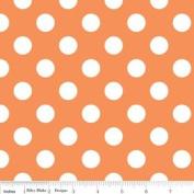 Riley Blake Basics Polka Dot Orange White Flannel Fabric SKU F360-60