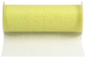 Kel-Toy Glitter Tulle Fabric, 15cm by 25-Yard, Yellow
