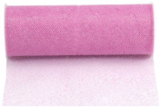 Kel-Toy Glitter Tulle Fabric, 15cm by 25-Yard, Pink