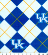 NCAA Fleece Fabric-University of Kentucky Argyle