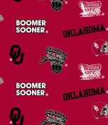 University of Oklahoma Sooners Fleece Fabric-oklahoma Sooners Fleece Fabric Sold By the Yard