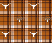 TEXAS FLEECE FABRIC-TEXAS LONGHORNS FLEECE FABRIC-SOLD BY THE YARD