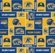 Kent State Super Soft Collegiate Classic Fleece Geometric-Kent State fleece fabric