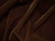 Dark Brown Velvet Fabric 110cm By the Yard