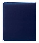 Pioneer 30cm by 38cm Postbound Family Treasures Deluxe Fabric Memory Book, Midnight Blue