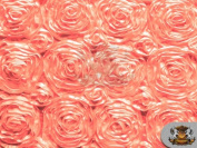 Rosette Satin Fabric CORAL / 140cm Wide / Sold by the yard