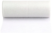 Kel-Toy Glitter Tulle Fabric, 15cm by 25-Yard, White/Iridescent