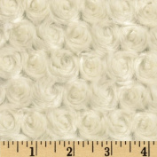 Minky Rosebud Ivory Fabric By The YD