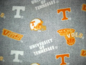 University of Tennessee - 100% Polyester Fleece 150cm Wide By the Yard