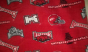 University of Arkansas By Sykel - Allover - 100% Polyester Fleece 150cm Wide By the Yard