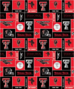 Texas Tech. - 100% Polyester Fleece 150cm Wide By the Yard