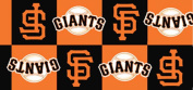 MLB San Francisco Giants Baseball Boxes Team Sports Print Fleece Fabric