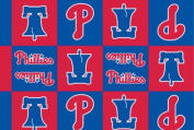 MLB Philadelphia Phillies Boxes Team Sports Baseball Print Fleece Fabric