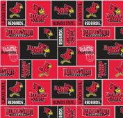 Illinois State Super Soft Collegiate Classic Fleece Geometric-Illinois State fleece fabric