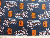 Cuddle Micro Plush Detroit Tigers MLB Baseball Sports Team Fabric Print by the Yard